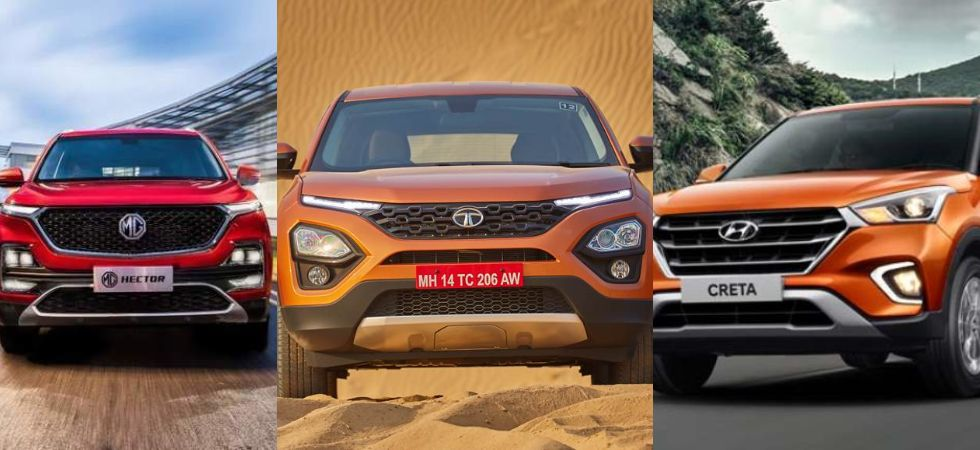 MG Hector vs Tata Harrier vs  Hyundai Creta (Photo Credit: Twitter)