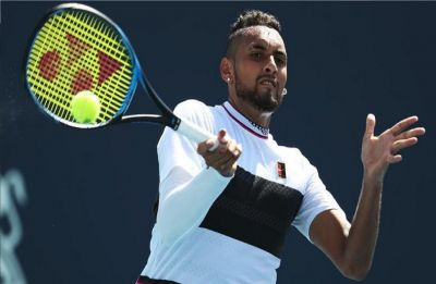 Kyrgios disqualified as Federer, Nadal and Djokovic advance in Italian Open