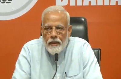 Elections LIVE   PM Modi addresses his first-ever press conference at BJP headquarters in Delhi