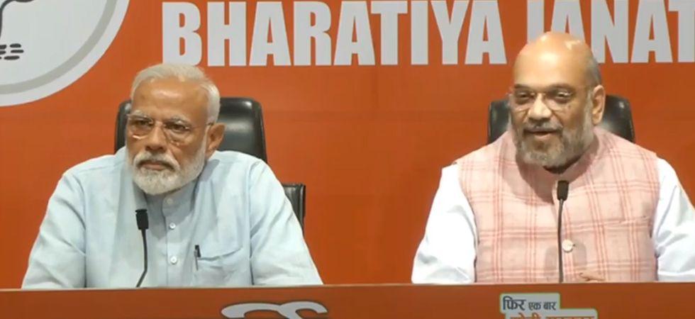 LIVE: Amit Shah addresses BJP press conference in PM Modi's presence
