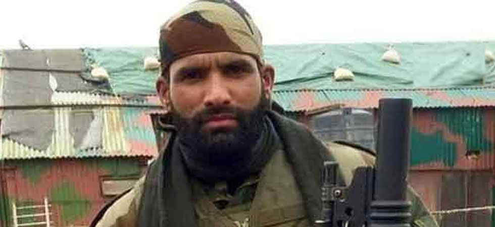 Indian Army jawan Aurangzeb, who was abducted and killed by terrorists in 2018. (ANI Photo)