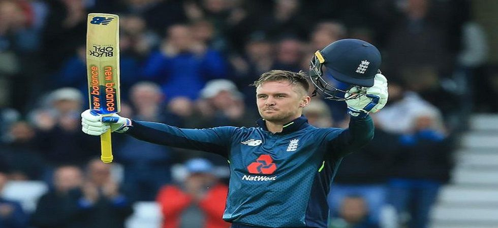 Jason Roy smashed his eighth ton but the knock came in trying circumstances with his baby daughter in hospital. (Image credit: ICC Twitter)