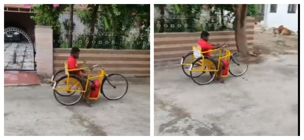 Differently-abled delivery boy becomes a source of inspiration (Photo: Twitter)
