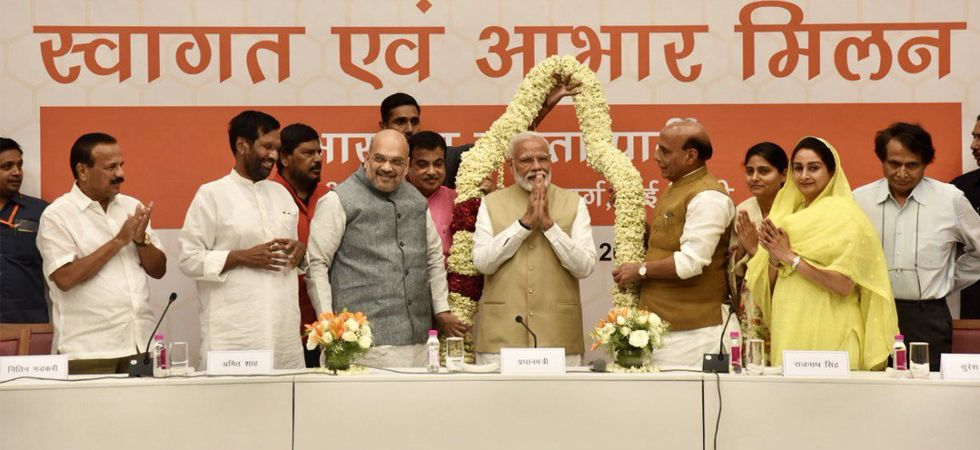 After exit polls predict victory, PM Modi and Amit Shah meet NDA allies, dinner to be hosted later today
