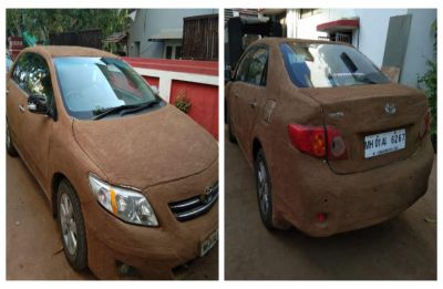 What Ahmedabad car owner USES to beat the heat this summer!