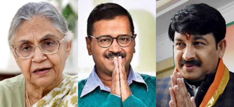 Sheila Dikshit, Arvind Kejriwal and Manoj Tiwari