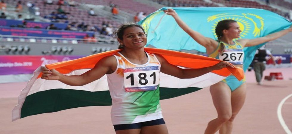 Dutee Chand said she had kept the identity of her partner a secret, but still, some channels had dug it out and revealed the name and picture. (Image credit: Twitter)