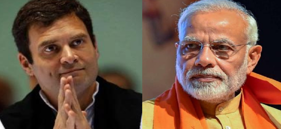 PM Narendra Modi and Congress president Rahul Gandhi