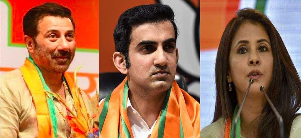 Sunny Deol, Gautam Gambhir and Urmila Matondkar. (File Photo)