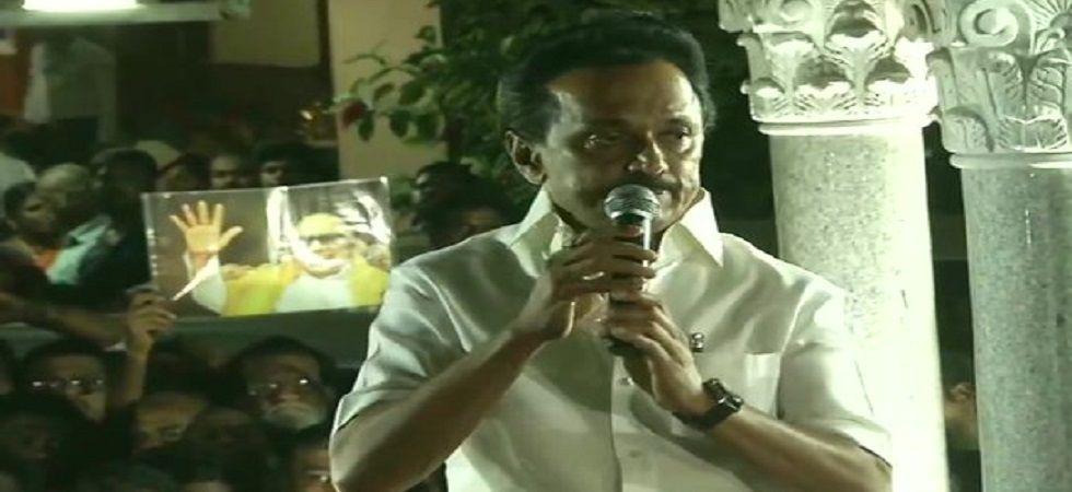 Stalin's Dravida Munnetra Kazhagam (DMK) trounced the All India Anna Dravida Munnetra Kazhagam (AIADMK) by a massive margin in the Lok Sabha Elections 2019. (Image credit: ANI Twitter)
