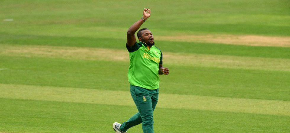Andile Phehlukwayo scored an attacking 35 and took 4/36 as South Africa won by 87 runs against Sri Lanka in the ICC Cricket World Cup 2019 warm-up game. (Image credit: ICC Twitter)