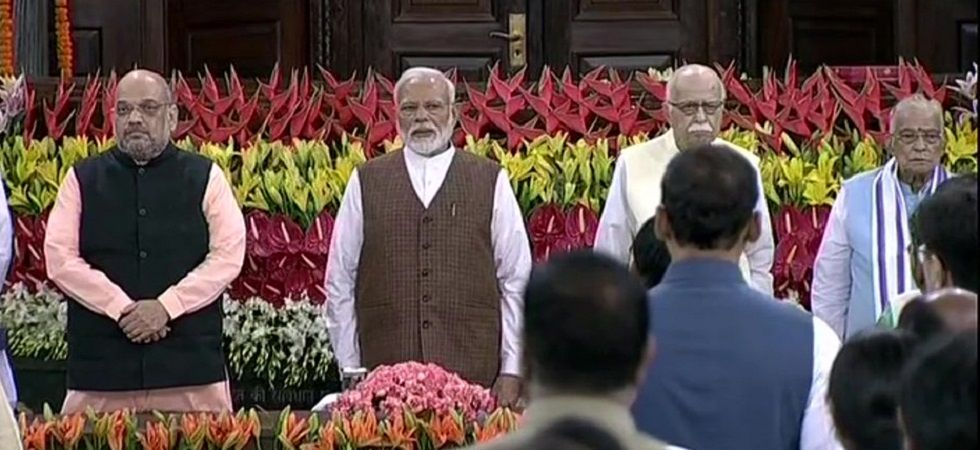 Amit Shah had proposed Modi's name and former party presidents Rajnath Singh and Nitin Gadkari seconded the proposal. (Image Credit: ANI)