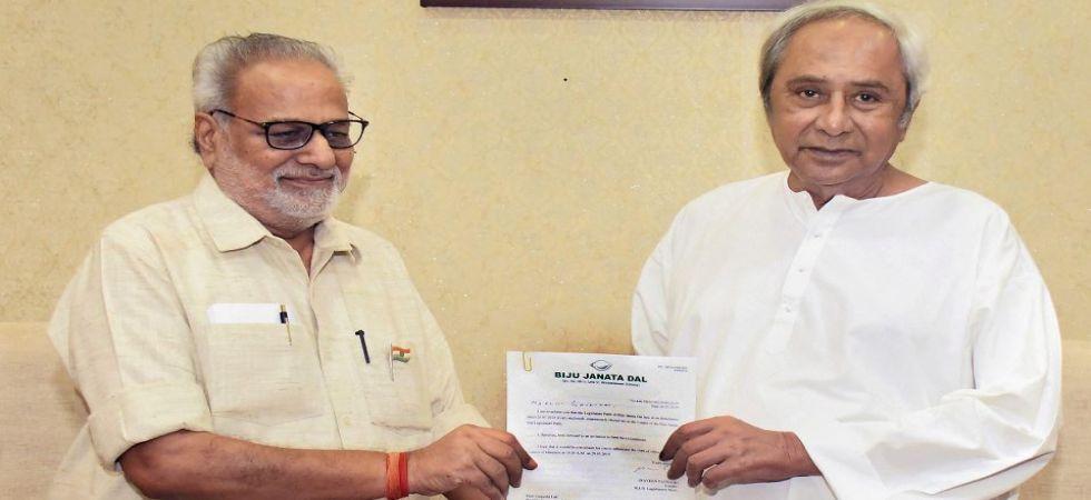 Naveen Patnaik with Odisha Governor Ganeshi Lal (Photo Source: PTI)