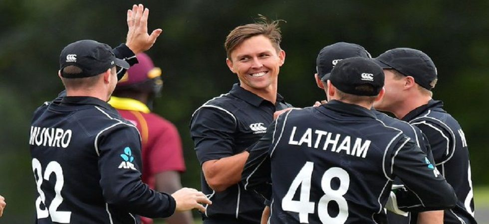 Trent Boult picked up four wickets but West Indies notched up 421 to win by 91 runs against New Zealand in the final ICC Cricket World Cup 2019 warm-up encounter. (Image credit: Twitter)
