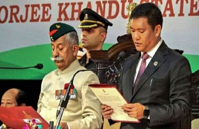 Pema Khandu takes oath as Arunachal Pradesh's 10th Chief Minister