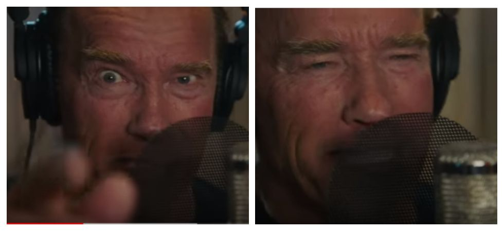 Arnold Schwarzenegger dropped a 'rap track' (Photo: YouTube)