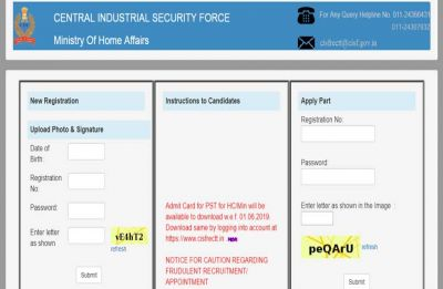 Download CISF Head Constable Admit Card 2019 for Physical Standard Test @ csifrectt.in