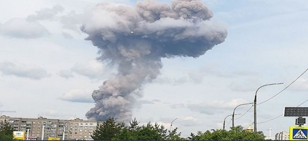 Blast at Russian explosives plant near Moscow (Photo Source: Twitter)
