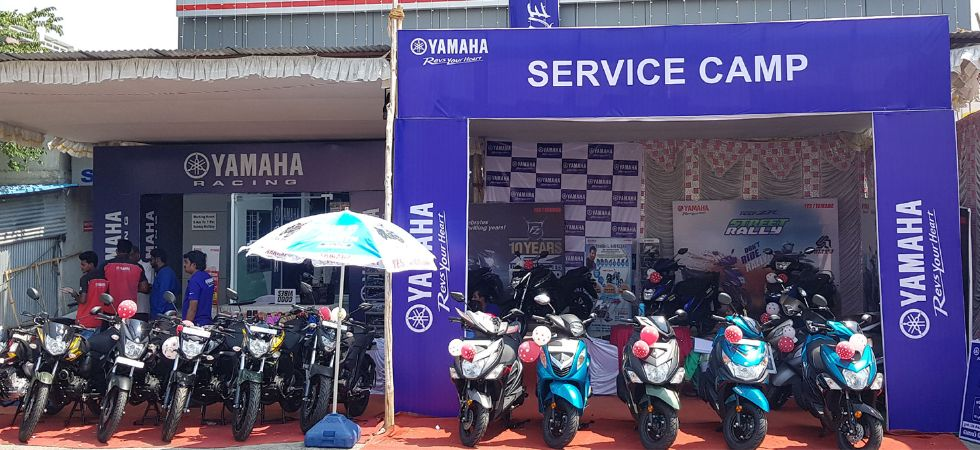 Yamaha Motor pre-monsoon check-up camps in India (Photo Credit: Yamaha)