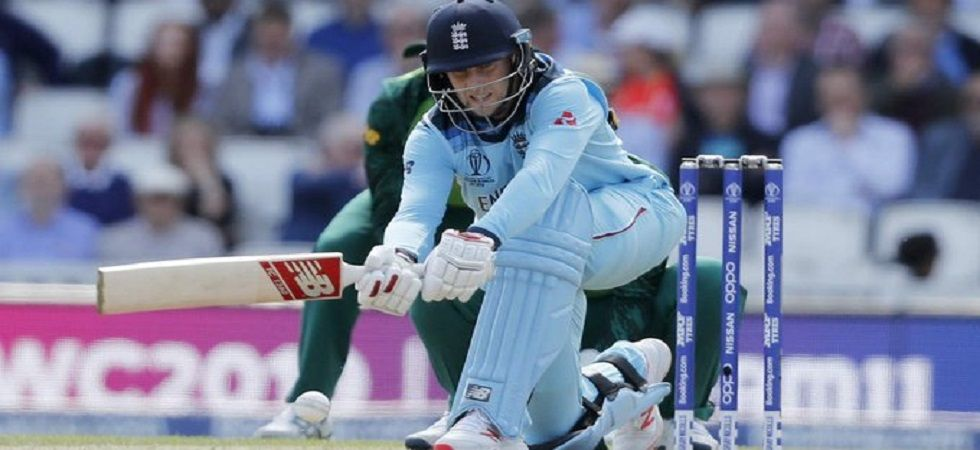 Joe Root became the first centurion of the ICC Cricket World Cup 2019 as England stayed on course for a record-breaking chase against Pakistan in the clash in Trent Bridge. (Image credit: Twitter)