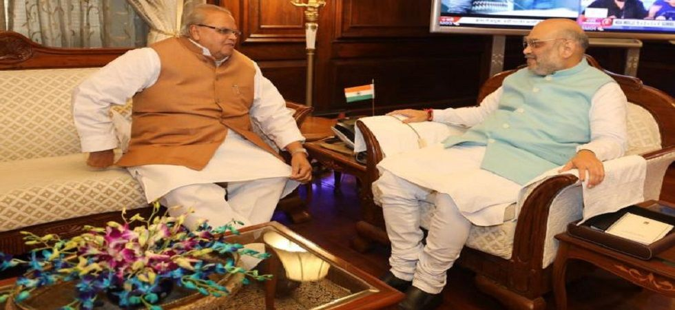 Home Minister Amit Shah holds meeting with J&K Governor Satya Pal Malik