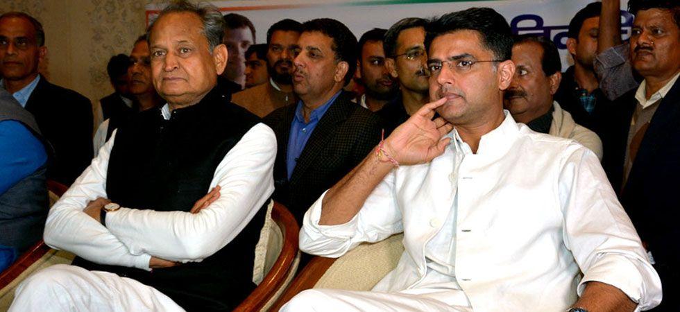 Chief Minister Ashok Gehlot with his Deputy Sachin Pilot. (File Photo: IANS)