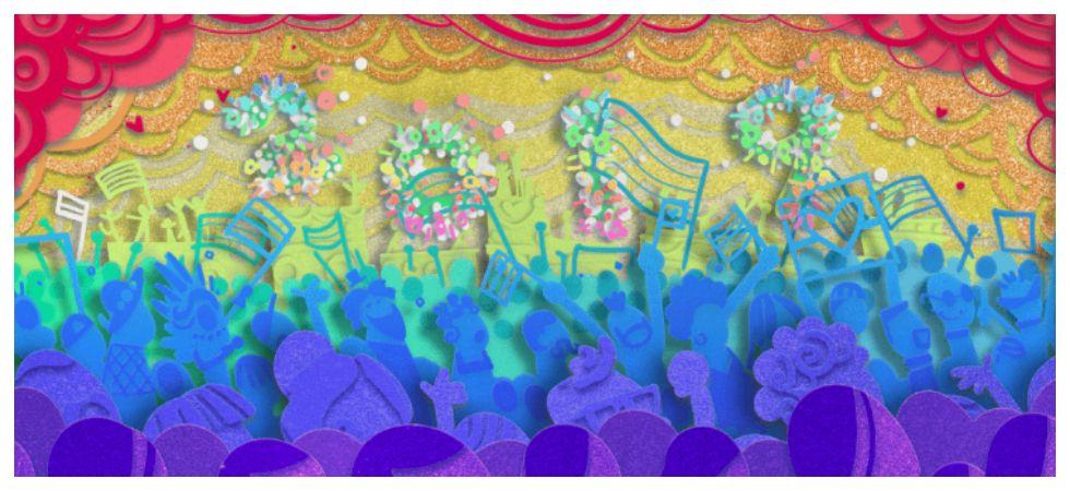 Google Doodle celebrates 50 years of LGBTQ history  (Photo: Google)