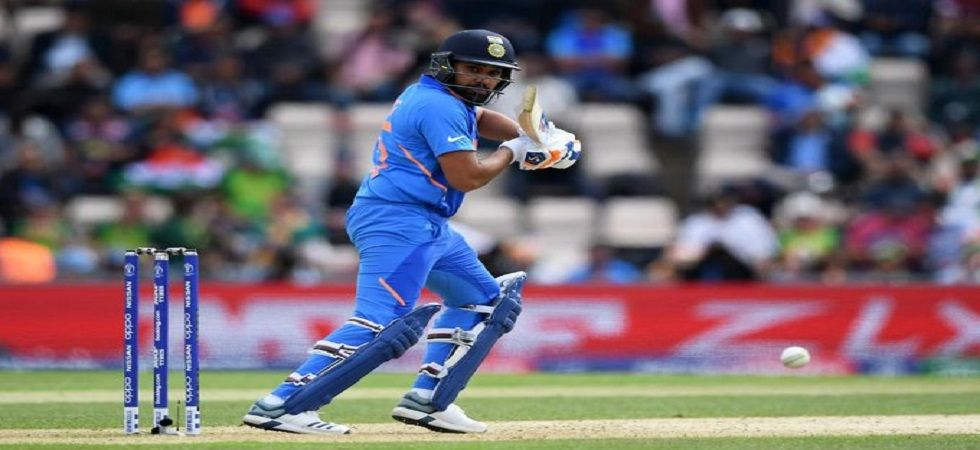Rohit Sharma had blasted his second century in the World Cup, having scored a century in the quarterfinal of the 2015 World Cup in Melbourne against Bangladesh. (Image credit: ICC Twitter)