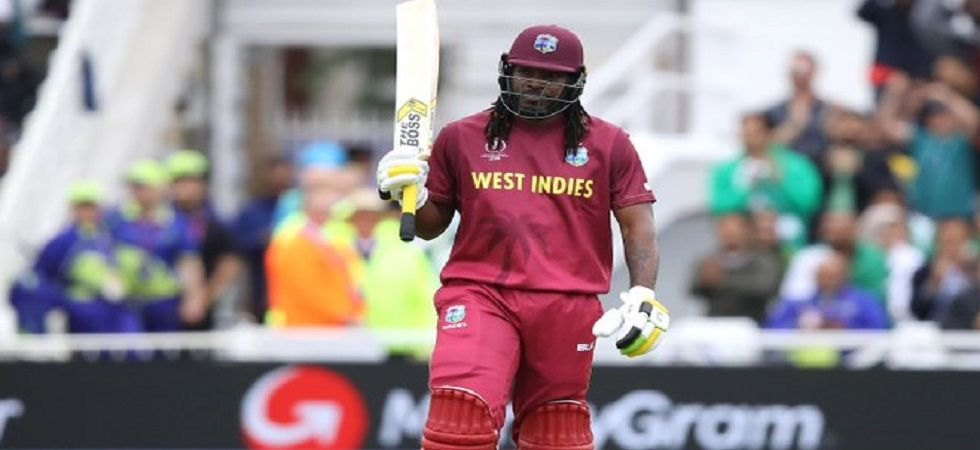Chris Gayle survived twice thanks to DRS but he could not survive a third time as Mitchell Starc dismissed him for 21. (Image credit: Twitter)