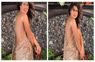 WATCH | Priyanka Chopra dancing in backless saree is what Justin Timberlake's 'Sexy Back' is all about