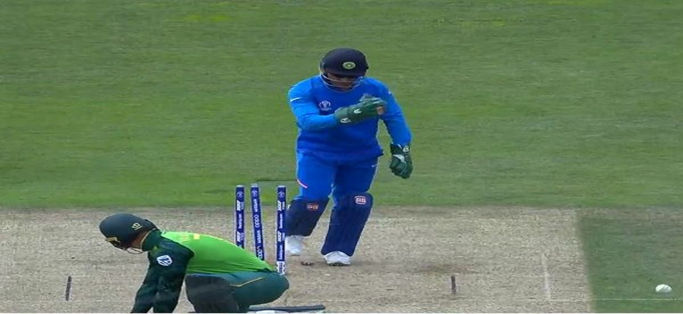 The ICC has said MS Dhoni cannot wear the Army insignia logo during the ICC Cricket World Cup 2019. (Image credit: ANI Twitter)