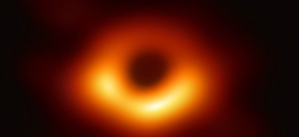It is the accretion disk that can be seen as a blurry halo around the image of the black hole released in April from the Event Horizon Telescope. (File photo)