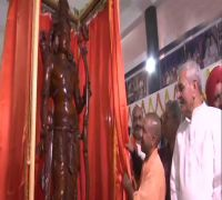 CM Yogi unveils Lord Ram statue in his first visit to Ayodhya post 2019 Lok Sabha Elections