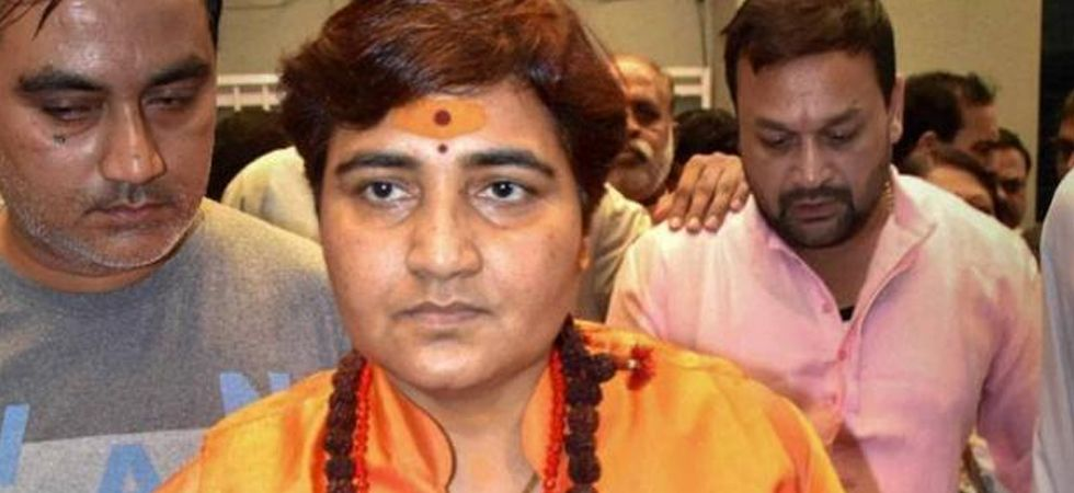 Pragya Singh Thakur arrives at Special NIA Court to appear in Malegaon blast case