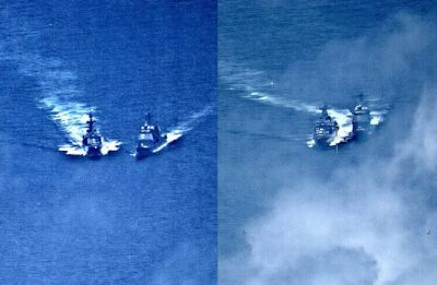 US, Russia accuse each other of 'unsafe', 'dangerous manoeuvres' after warships 'nearly collide'