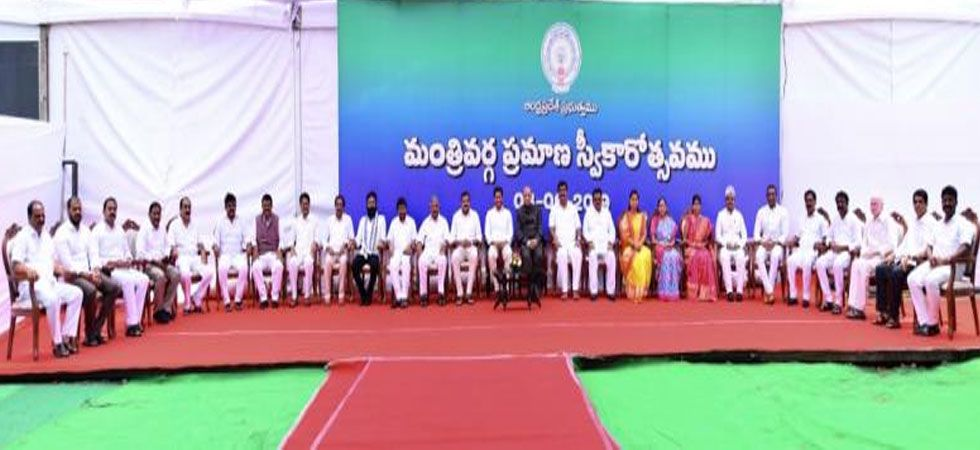 The 26-member Cabinet, including the Chief Minister, has three women members; two from the Scheduled Castes and one from the Scheduled Tribes. (Photo: YSRC Website)