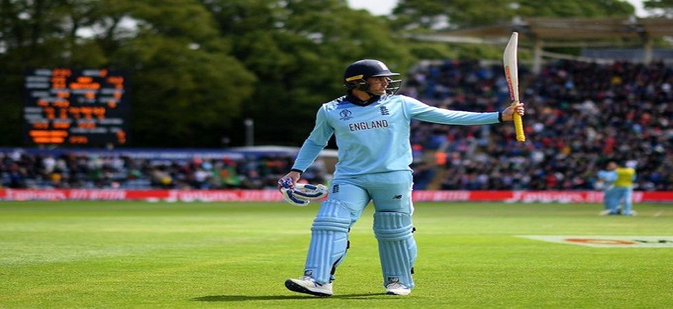 Jason Roy blasted 153, the second-highest individual score by an England batsman in World Cups. (Image credit: Twitter)