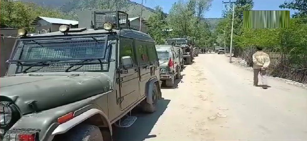 There was heavy exchange of firing and the search operation turned into a full-fledged encounter. The encounter is still underway. (Photo: ANI)