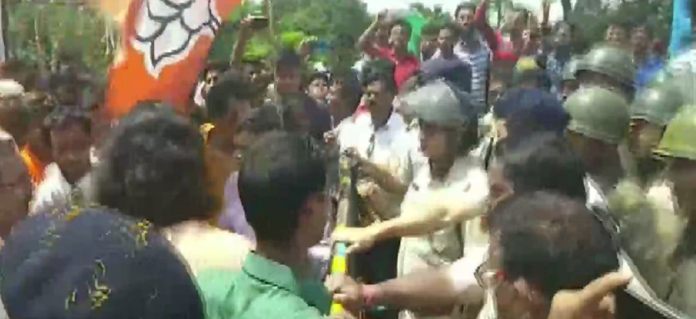 Clash breaks out after cops allegedly stop BJP MP Dilip Ghosh's rally in South Dinajpur