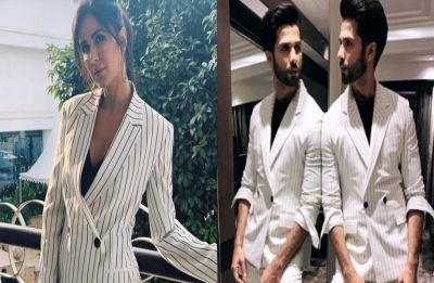 Katrina Kaif or Shahid Kapoor – who wore the pantsuit better? Check pictures here