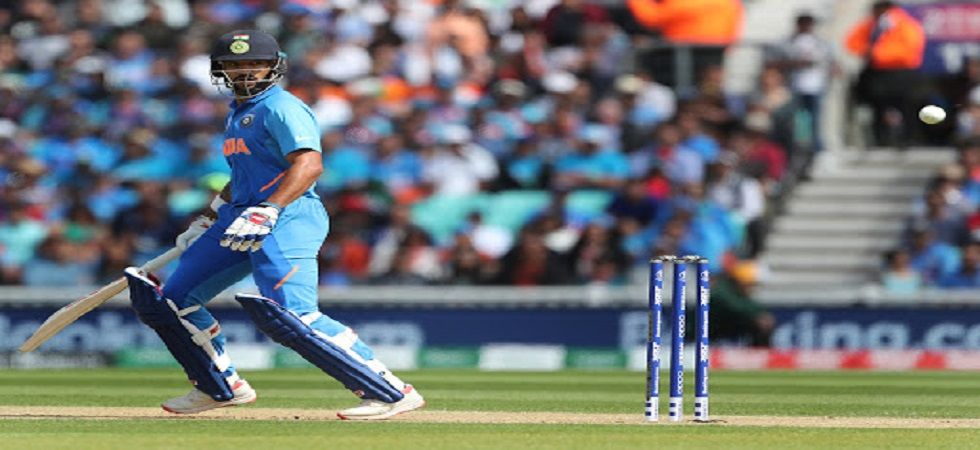 Shikhar Dhawan notched up his 17th century and fourth against Australia as India were on top in the ICC Cricket World Cup 2019 clash at The Oval. (Image credit: IANS)