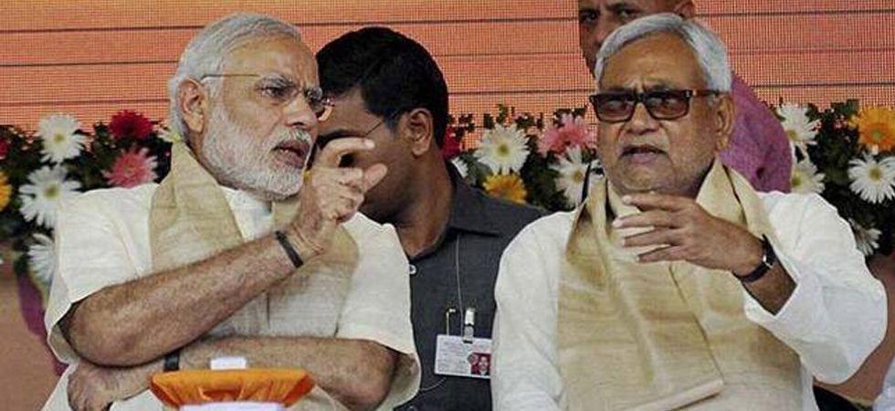 File photo of Prime Minister Narendra Modi with JD(U) chief Nitish Kumar.