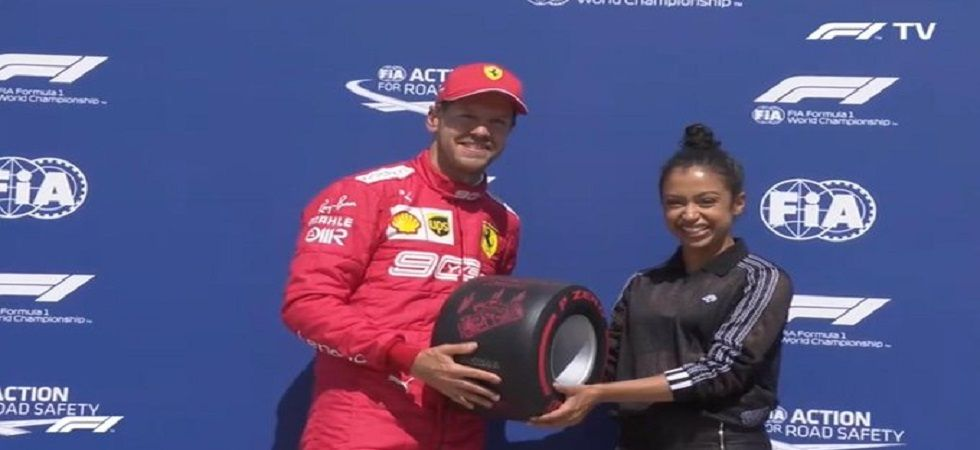 Sebastian Vettel secured his first pole position after 17 races and Ferraro secured pole for the second time in the Canadian Grand Prix. (Image credit: Twitter)