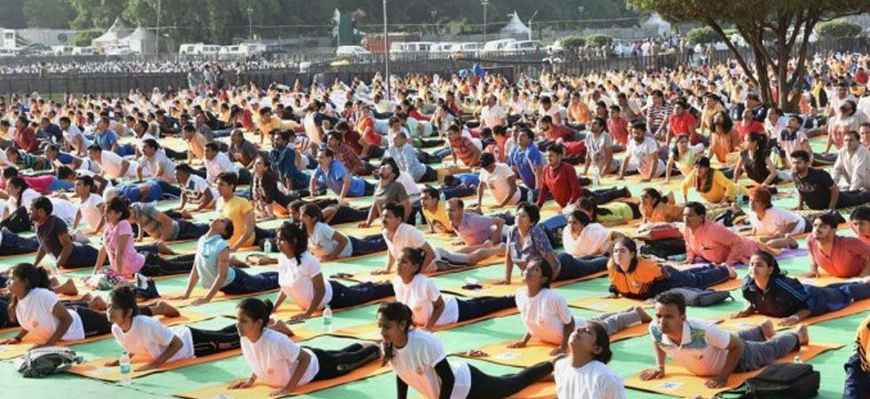 This will be the third time that the Washington Monument, that faces the National Mall overlooking the US Congress, would host the International Yoga Day celebrations. (File photo)