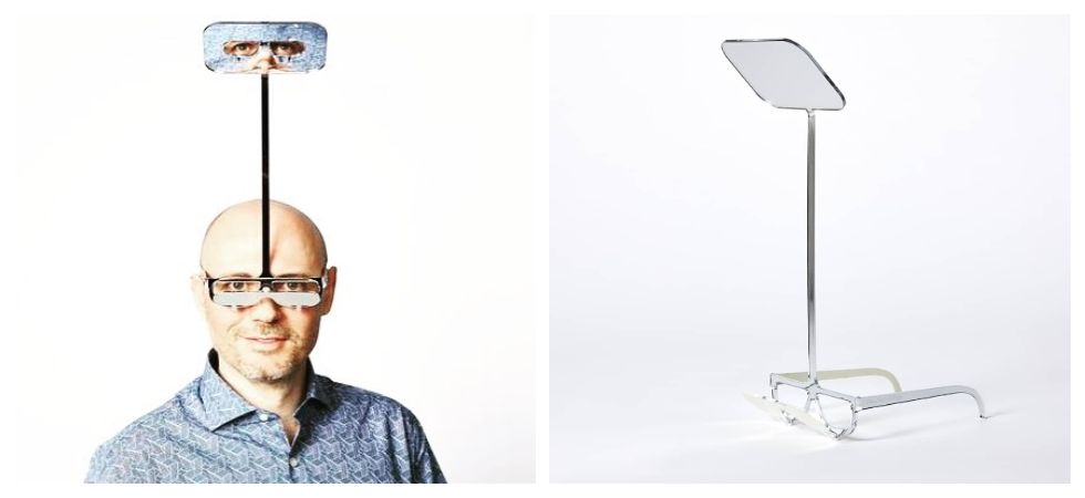 Periscope glasses makes you one foot taller (Photo: Twitter\Dominic Wilcox)