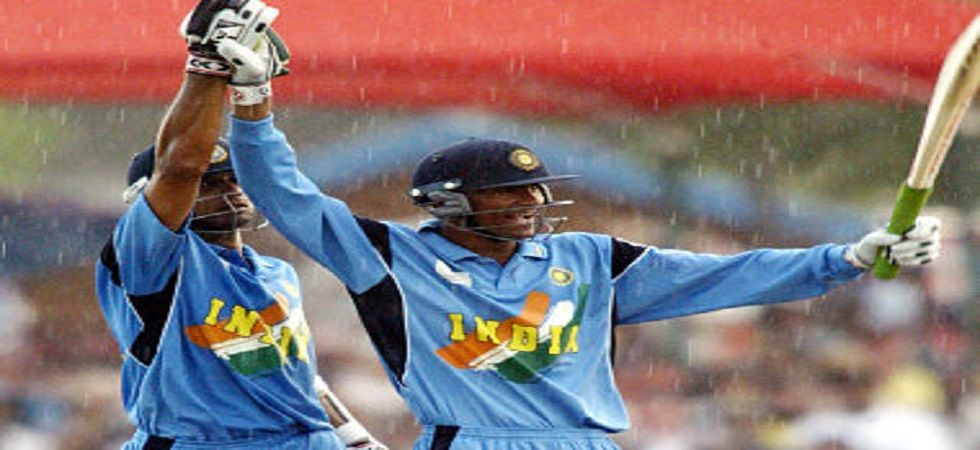 Mohammad Kaif and Rahul Dravid sealed a brilliant win for India in the super-six clash against New Zealand in the 2003 World Cup clash in Centurion. (Image credit: Twitter)