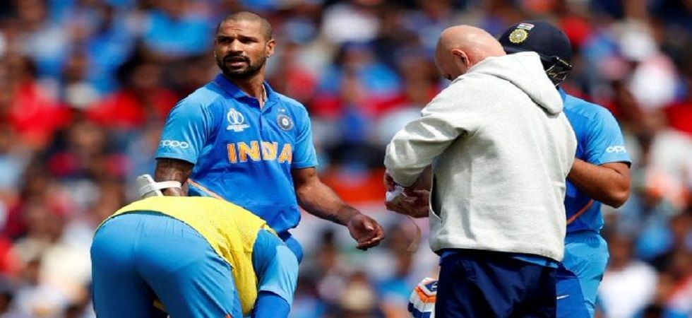 Shikhar Dhawan blasted a century but sustained a fractured thumb during India's win against Australia in the ICC Cricket World Cup clash at the Oval. (Image credit: Shikhar Dhawan Twitter)