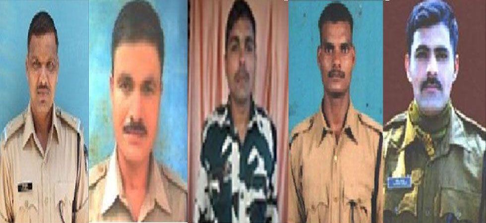ASI Ramesh Kumar, ASI Nirod Sarma, Constable Satendra Kumar, Constable Mahesh Kr Kushwaha and Constable Sandeep Yadav. (From Left To Right)