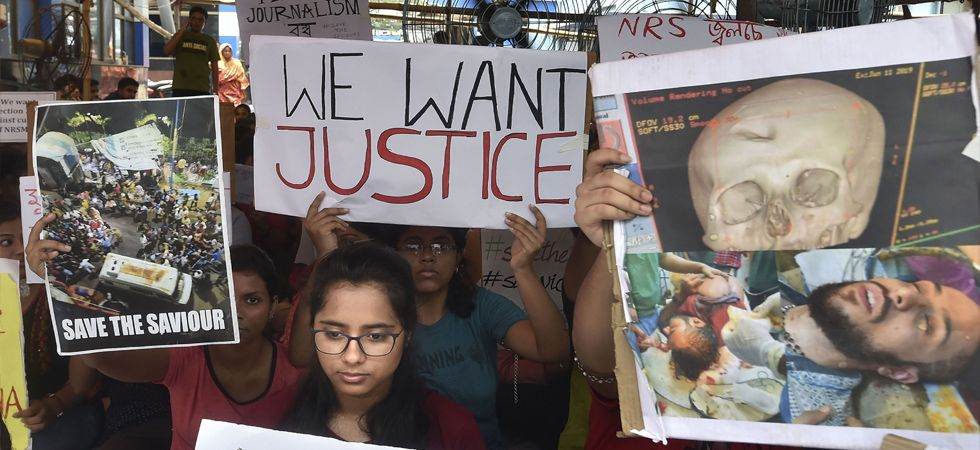 Doctors raised 'we want justice' slogans before Chief Minister Mamata Banerjee. (File Photo: PTI)