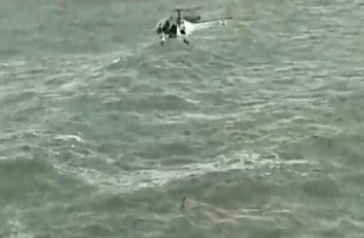 Watch Video: Indian Coast Guard rescues army man from drowning off Goa beach